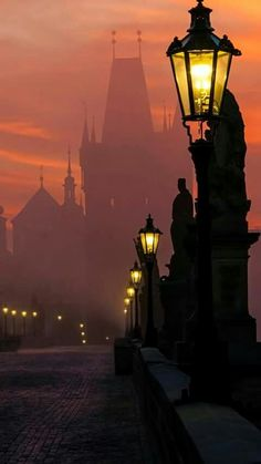I like this photo of the charles bridge in prague, czech republic because of how the fog and the sunrise go together along with the perspective. I also used to live in Prague so. Places Around The World, Oh The Places You'll Go, Places To Travel, Places To Visit, Around The Worlds, Pont Charles, Charles Bridge, Charles River, Budapest