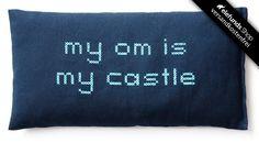 #Yogipop - #my om is my castle - Augenkissen - blau - 30,00€ - 100% organic and fairtrade - Versand kostenlos