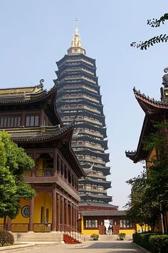 With 13 stories and a height of 153.79 metres (505 ft), this wooden pagoda is now the tallest pagoda and wooden structure in the world,[1] taller than China's tallest existent pre-modern Buddhist pagoda, the Liaodi Pagoda built in1055 at a height of 275 ft.