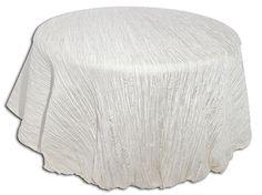 White Crinkle - I Do Linens
