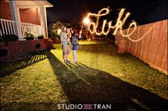 Sparkler - how-to from Studio Tran Photographers