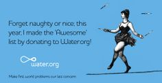 On #GivingTuesday make the AWESOME list by giving to Water.org.
