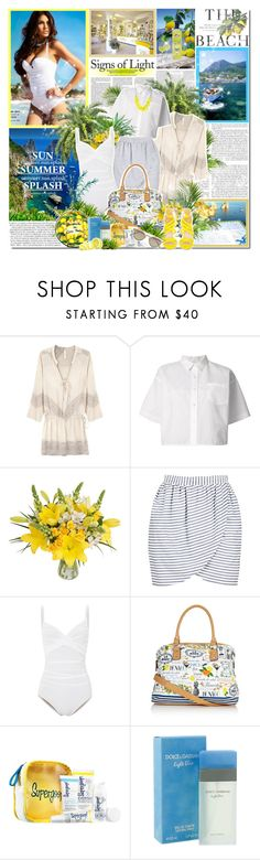 """""""Capri"""" by ellchy89 ❤ liked on Polyvore featuring Edition, Della, H&M, Cool Change, Sacai, PLANT, Harvey Faircloth, Karla Colletto, Accessorize and Supergoop!"""