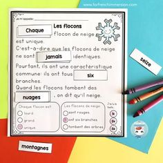 French Winter Reading Comprehension Worksheets: students cut and paste high-frequency words, answer multiple choice comprehension questions, and work on reading fluency! Improve Reading Comprehension, Reading Comprehension Worksheets, Reading Fluency, Comprehension Questions, French Worksheets, Core French, French Classroom, High Frequency Words, French Immersion