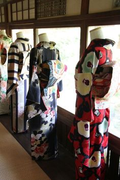 Contemporary kimono and furisode - somewhere in Japan (?)