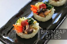 Bibimbap Bites Recipe | Veggietorials These would be awesome to impress some guests! and video tutorial is nice