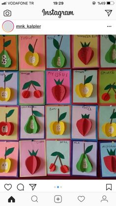 15 Different Fruits and Vegetables Craft Ideas For Kids With Images Paper Crafts For Kids, Diy And Crafts, Arts And Crafts, Fun Craft, Craft Gifts, Craft Ideas, Summer Crafts, Fall Crafts, Vegetable Crafts