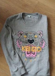 Kup mój przedmiot na #vintedpl http://www.vinted.pl/damska-odziez/bluzy/16361496-szara-bluza-kenzo-l-40