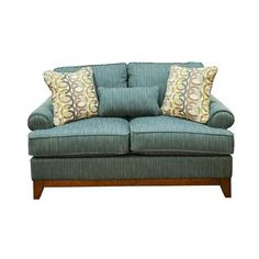 Traditional Blue Loveseat