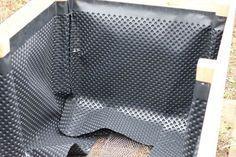 Einfaches Hochbeet selber bauen Noppenbahn Innenansicht