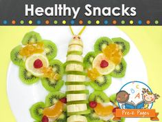 Healthy snack ideas for kids in preschool, pre-k, and kindergarten.
