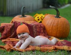 Fall Halloween Baby Photo Idea For Babies That Cant Stand Up Just Yet