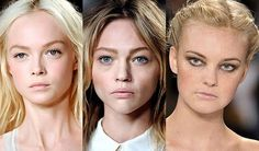Strong eyebrows on blondes - might have to give it a try.