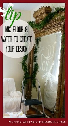How to make a template for your glitter script… great Christmas decorating idea!!