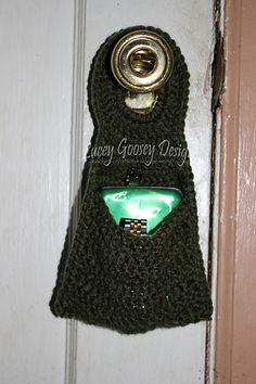 This pattern is for a simple organizer that will fit on pretty much any door knob.