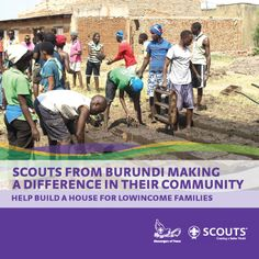 Scouts helping the community in Burundi Some Pictures, Scouts, Building A House, Community, Baseball Cards, How To Make, Design, Boy Scouts
