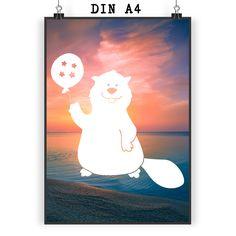 Poster DIN A4 Biber aus Papier 160 Gramm  weiß - Das Original von Mr. & Mrs. Panda.  Jedes wunderschöne Motiv auf unseren Postern aus dem Hause Mr. & Mrs. Panda wird mit viel Liebe von Mrs. Panda handgezeichnet und entworfen.  Unsere Poster werden mit sehr hochwertigen Tinten gedruckt und sind 40 Jahre UV-Lichtbeständig und auch für Kinderzimmer absolut unbedenklich. Dein Poster wird sicher verpackt per Post geliefert.    Über unser Motiv Biber  Biber sind Nagetiere, die es lieben, Staudämme…