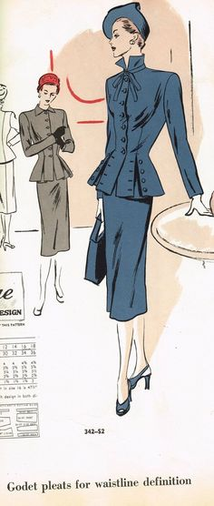 Vogue Counter Catalog, April 1947 featuring Vogue 342