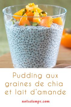 Nutrition 98238 Pudding with chia seeds and almond milk Chia Pudding, Almond Milk Pudding, Milk Pudding Recipe, Chia Recipe, Pudding Recipes, Milk Recipes, Raw Food Recipes, Cooking Recipes, Food Tips