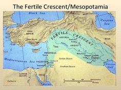 Map of Mesopotamia the land between two rivers and the fertile