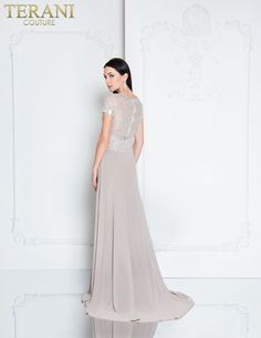 436636d0bf71 Chiffon Gown, Bride Gowns, Terani Couture, Formal Dresses, Mother Of The  Bride