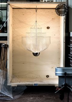 BEST OF MILAN DESIGN WEEK 2014 | The Meshmatics Chandelier by Rick Tegelaar, part of WORKMATES exhibition at Ventura Lambrate. Photo by JW Kaldenbach. http://www.yatzer.com/best-of-milan-design-week-2014