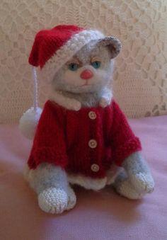 Lieve kerst poes handmade by Annie Swart