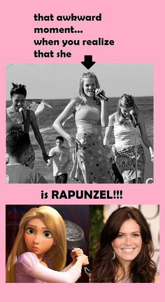 In case you never noticed that Lana from the Princess Diaries became Rapunzel;)