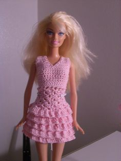 Ravelry: Pink ruffle skirt for Barbie by Katrinna Fruit