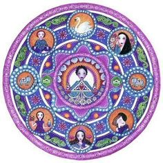 Libra Astrology Mandala Greeting Card