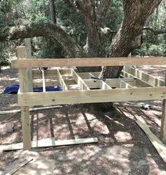 building the tree house Backyard Playground, Backyard For Kids, Backyard Ideas, Garden Ideas, Playground Ideas, Large Backyard, Backyard Projects, Outdoor Projects, Outdoor Ideas