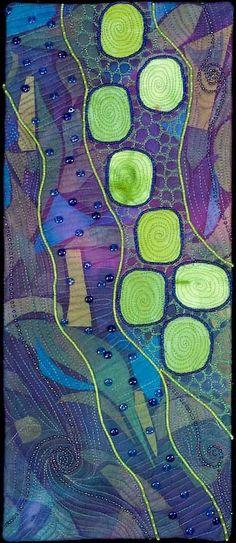 Beautiful mixed media textile - handmade by ©Larkin Jean Van Horn - www.larkinart.com/pathway-out-of-the-gloom