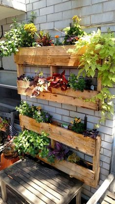 Not all houses have spacious backyard. Whereas, every homeowner would want to have a backyard that can be planted with a variety of favorite plants. Backyard Garden Landscape, Small Backyard Gardens, Garden Landscape Design, Balcony Garden, Backyard Landscaping, Garden Pallet, Herb Garden, Backyard Ideas, Jardin Vertical Pallet