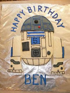 Homemade R2D2 Birthday Cake: I decided to make an R2D2 cake for my son's 5th birthday. He wanted a Lego star wars theme and I felt like it was the friendliest and most unique character