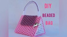 HOW TO MAKE A BEADED BAG/PURSE /PEARL BEADED BAG/TRIANGLE SHAPE BEAD BAG... Bead Crafts, Arts And Crafts, Perler Bead Templates, Make And Sell, How To Make, Beaded Bags, Triangle Shape, Crochet Dolls, Pearl Beads