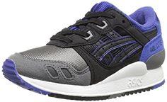 ASICS Tiger Gel Lyte III PS Retro Running Shoe (Toddler/Little Kid), Black/Black, 10 M US Toddler