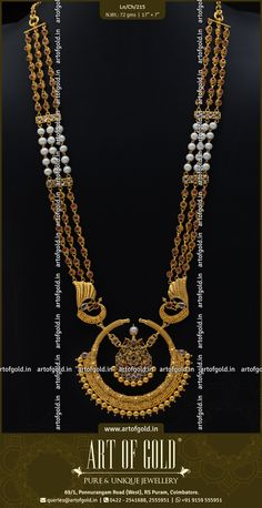5b010a32e48 Chandbali Pendant attached with a chains of Pearl