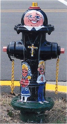 This is one of the many fire hydrants on the property painted by local folks. Isn't it darling?