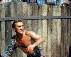 Kirk Douglas on the set of Spartacus, 1959.