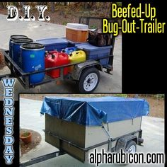 DIY Beef Up Bug-Out-Trailer Survival Mode, Survival Tools, Camping Survival, Survival Prepping, Emergency Bag, Emergency Preparedness, Bug Out Trailer, Camp Trailers, Bug Out Kit