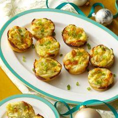 Artichoke Dip Bites Recipe from Taste of Home -- shared by Nikkole Vanyo, West Fargo, North Dakota