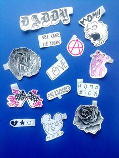 Lil Peep tattoos stickers