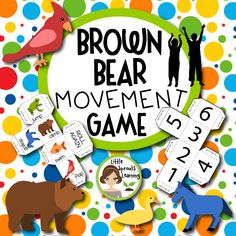 Enjoy the start of a NEW SCHOOL YEAR with this fun way to move. This Brown Bear movement game is great at the start or end of a day or when students need to get some physical activity during the day as they transition to other activities,