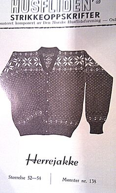 Husfliden 138 Norwegian Knitting, Nordic Style, Jumpers, Men Sweater, Sweaters, Fashion, Moda, Fashion Styles, Jumper