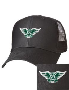 William Woods University Owls Embroidered Cotton Twill Trucker-Style Mesh Back Cap