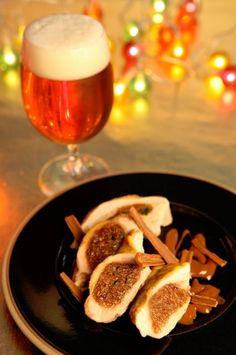 Filets+de+pintade+farcis+au+pain+d'épices,+jus+gourmand+à+la+Bière+de+Noël