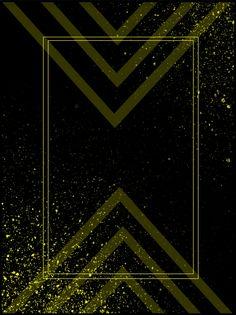 خلفية مثلث ريح ذهبية سوداء حدود ذهبية سوداء خلفية مثلث بسيطة