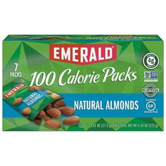 Emerald Nuts Natural Walnuts and Almonds, 100 Calorie Packs, 7 Ct, Multicolor Emerald Nuts, Making Yogurt, Roasted Cashews, Yummy Healthy Snacks, Nutrition, Protein Pack, 100 Calories, Stuffed Hot Peppers, Gourmet Recipes