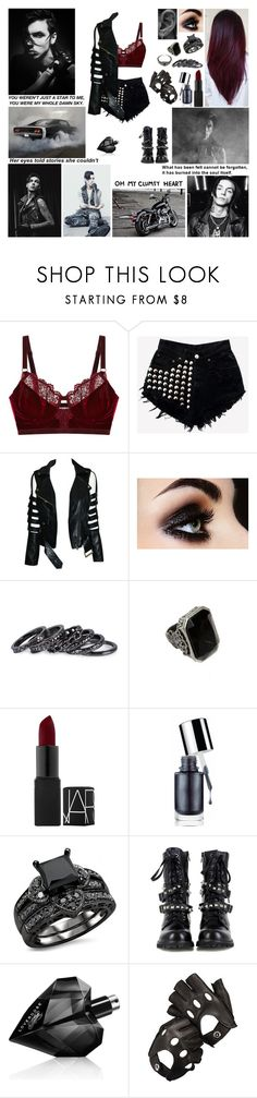 """""""✖ Cause every time I see your face, I break a little. And every single night you stay, you take a little. I just can't shake this feeling deep in my bone. I know I'm better when I'm alone. I call you and I break a little. ✖"""" by blueknight ❤ liked on Polyvore featuring Intimately Free People, Pieces, AllSaints, NARS Cosmetics, Clinique, Again, Diesel and Aspinal of London"""