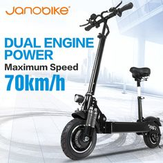 Buy Janobike Electric scooter double drive52V 2000W with seat 10 inch road tire folding electric motorcycle pedal adult at www.smilys-stores.com! Free shipping. 45 days money back guarantee. Cheap Electric Scooters, Electric Scooter With Seat, Hors Route, Car Trunk, Shipping Packaging, E Scooter, Building For Kids, Countries Around The World, Natural Disasters